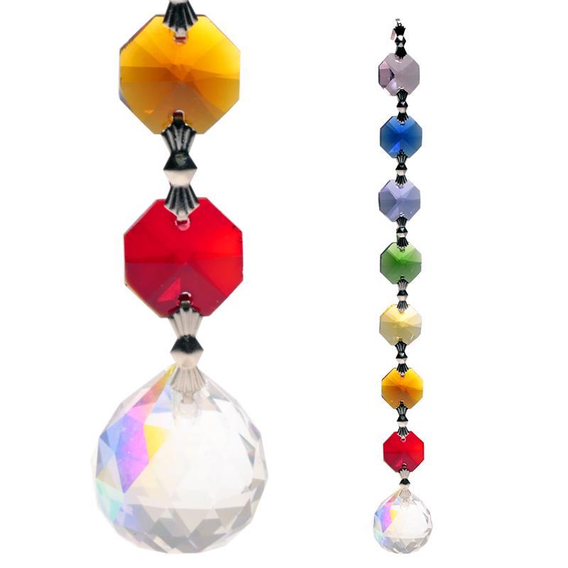 25349478bea0 Phoenix Import   Esfera de cristalAurora Feng Shui - 7 chacras. -- 20 cm