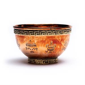 Offering bowl eight auspicious signs -- 8x4.5 cm