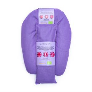 Eye and neck pillow organic lavender violet