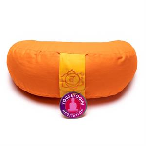 Meditation Cushion half moon Chakra 2 -- 1300 g; 33x13 cm