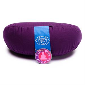 Meditation Cushion 1/2 moon Chakra 6 -- 1300 g; 33x13 cm