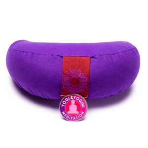Meditation cushion crescent moon Chakra 7 -- 1300 g; 33x13 cm
